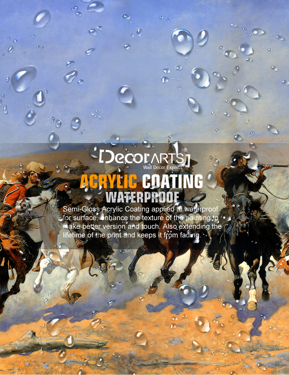 DecorArts-A-Dash-for-the-Timber-Frederic-Remington-Classic-Art-Reproductions thumbnail 7