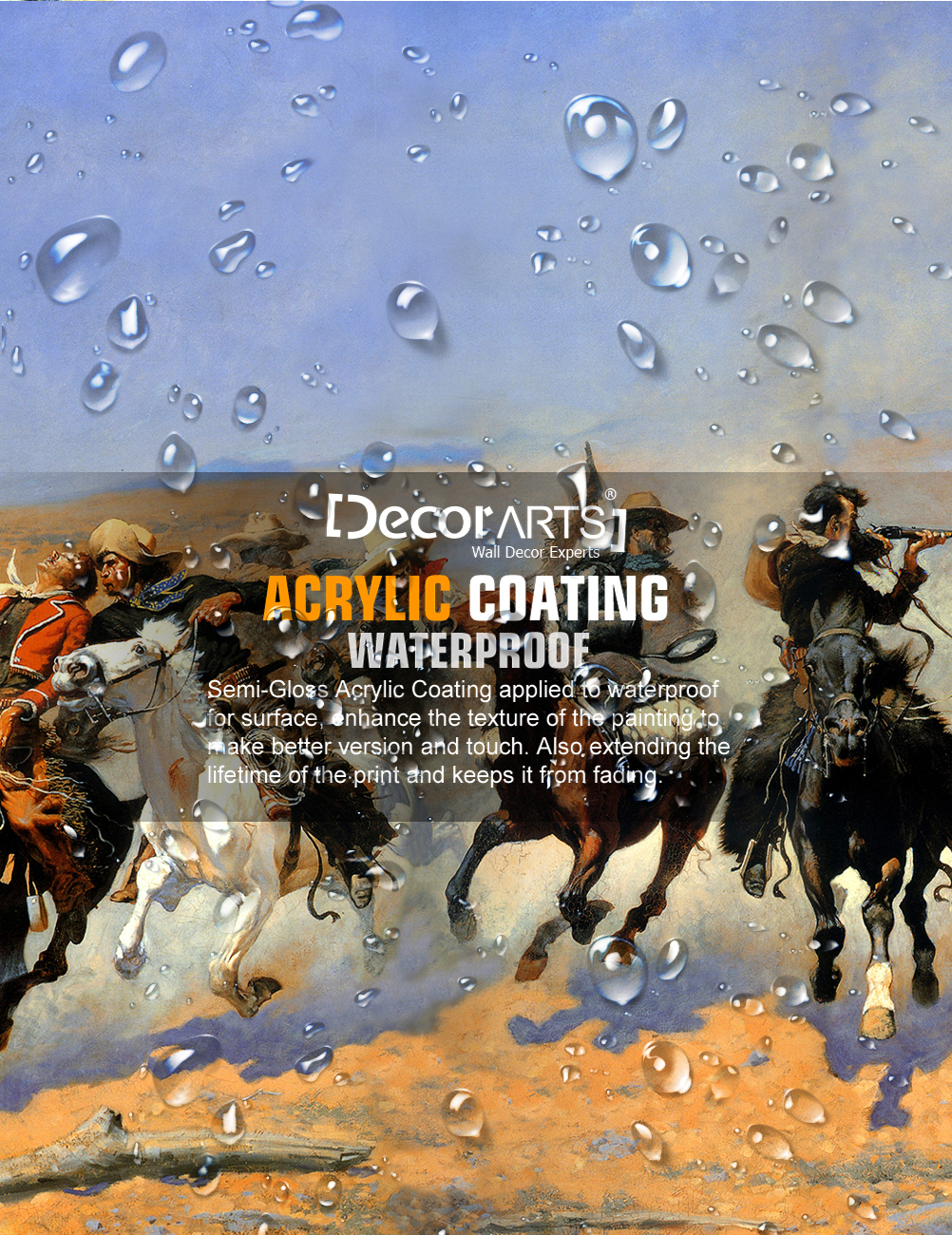 DecorArts-A-Dash-for-the-Timber-Frederic-Remington-Classic-Art-Reproductions thumbnail 14