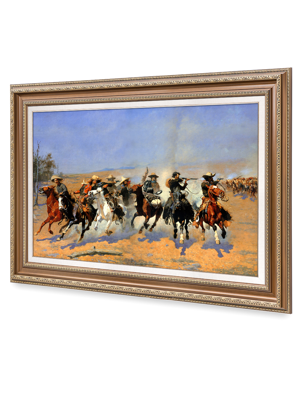 DecorArts-A-Dash-for-the-Timber-Frederic-Remington-Classic-Art-Reproductions thumbnail 24