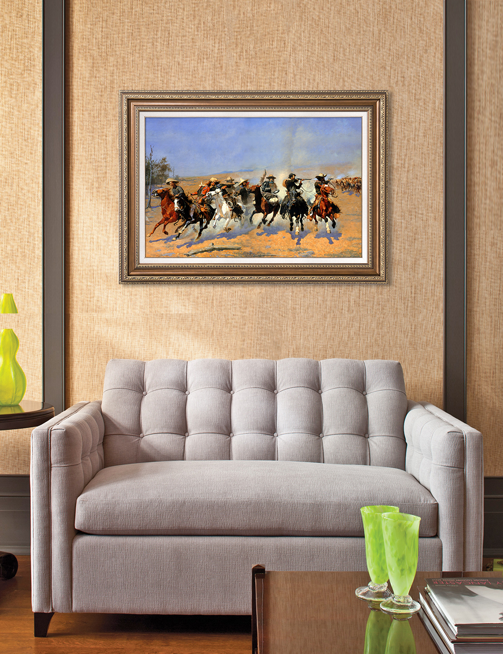 DecorArts-A-Dash-for-the-Timber-Frederic-Remington-Classic-Art-Reproductions thumbnail 25