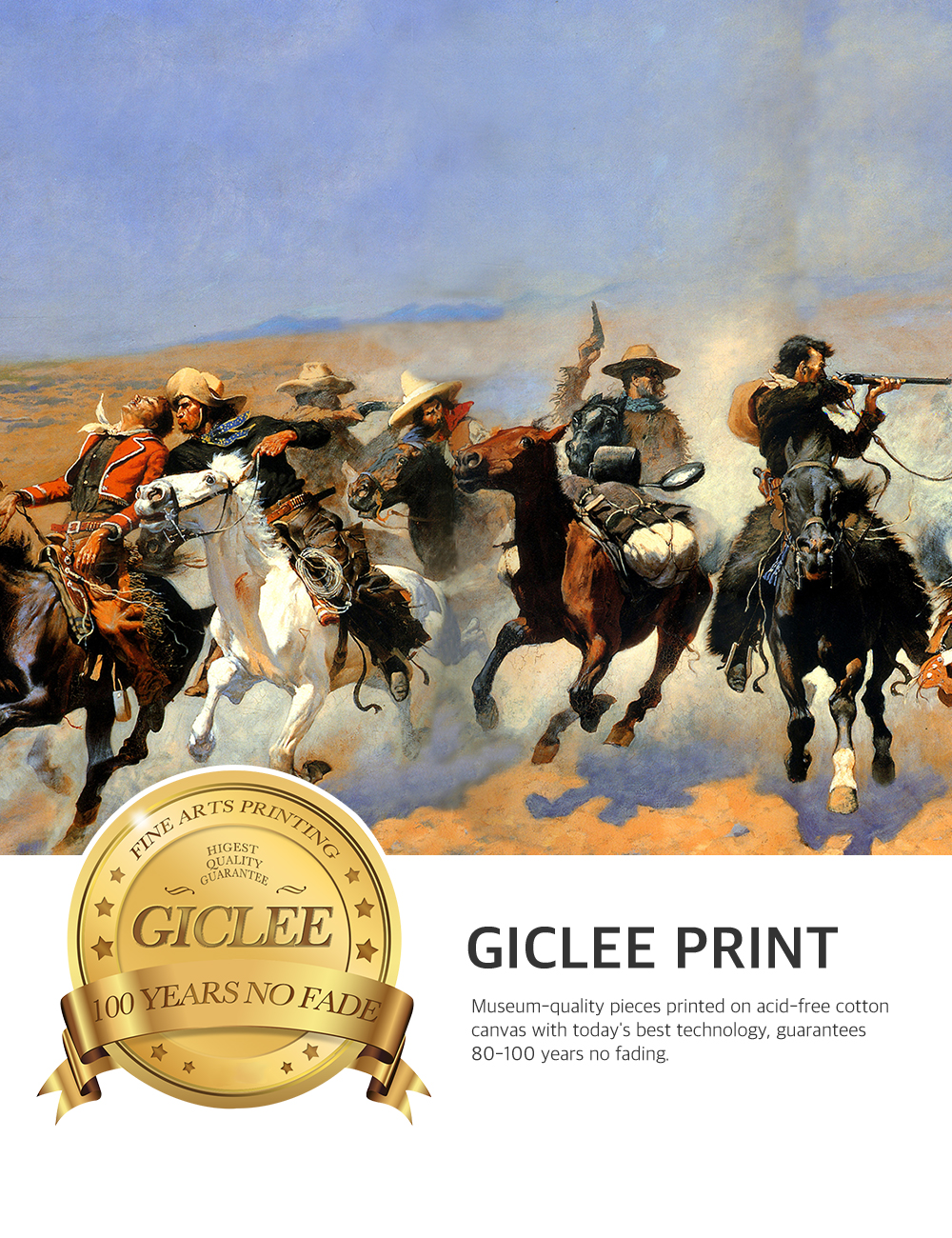 DecorArts-A-Dash-for-the-Timber-Frederic-Remington-Classic-Art-Reproductions thumbnail 28