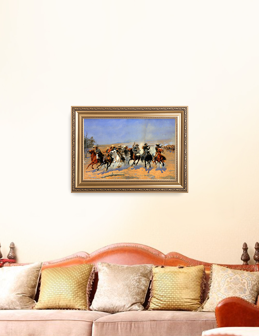 DecorArts-A-Dash-for-the-Timber-Frederic-Remington-Classic-Art-Reproductions thumbnail 18