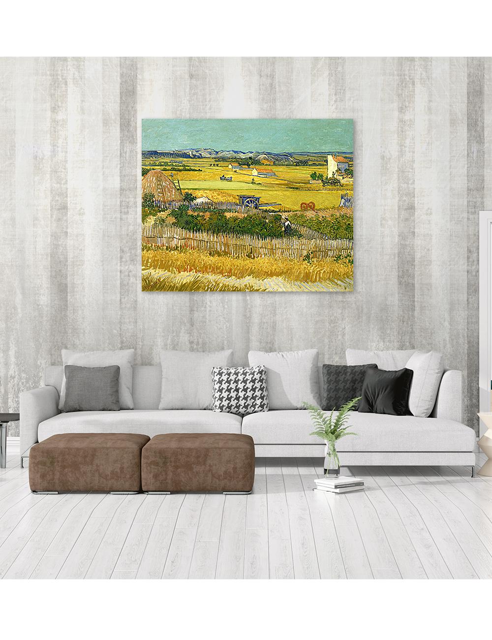 """DECORARTS - """"The Harvest"""" Vincent Van Gogh Art Reproduction."""
