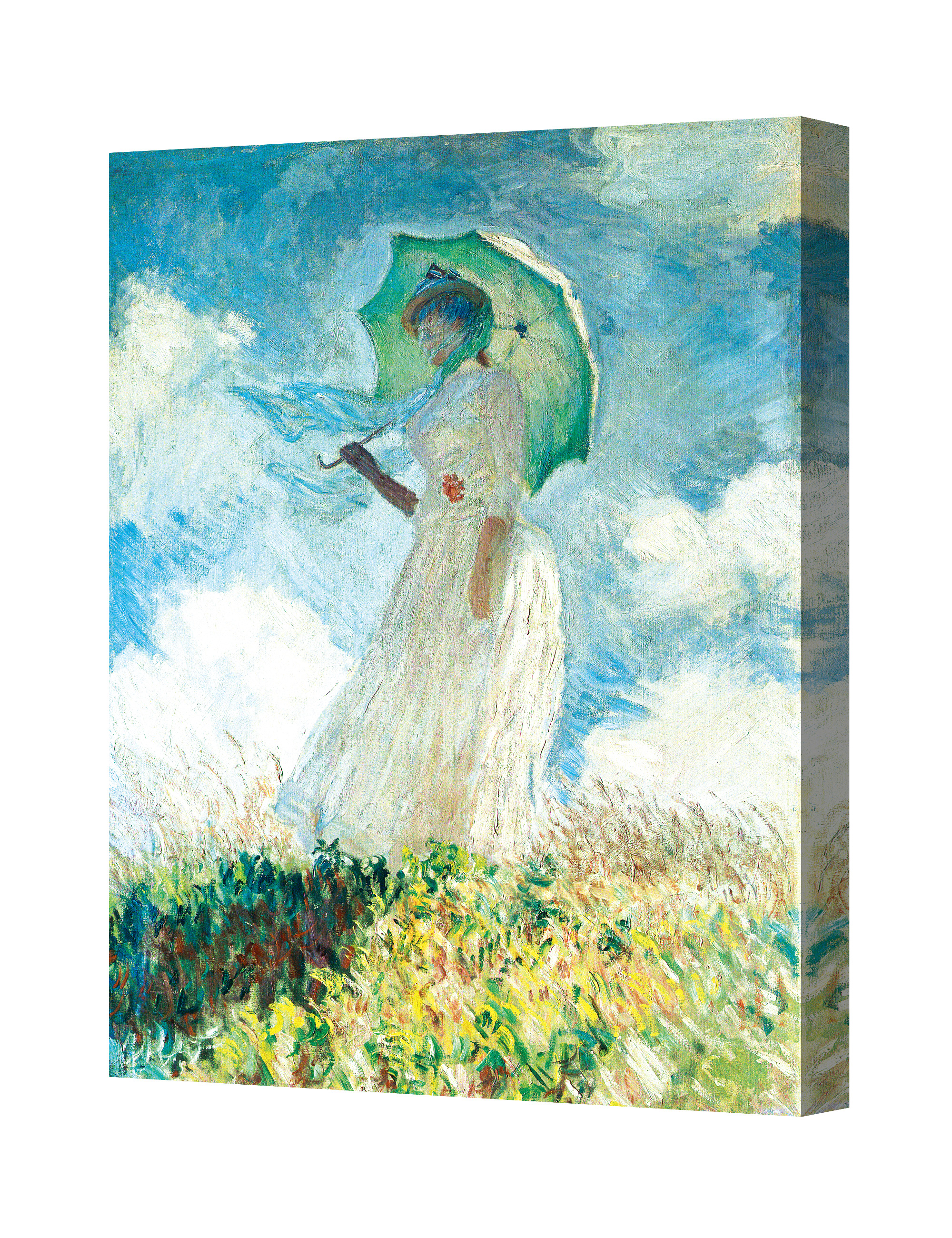Woman With A Parasol 1886 By Monet Giclee Print Stretched Canvas Wrapped Ebay